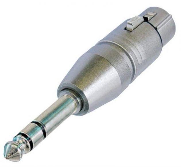 Adaptador Xlr femea/P10 macho stereo NA3FP  - Neutrik