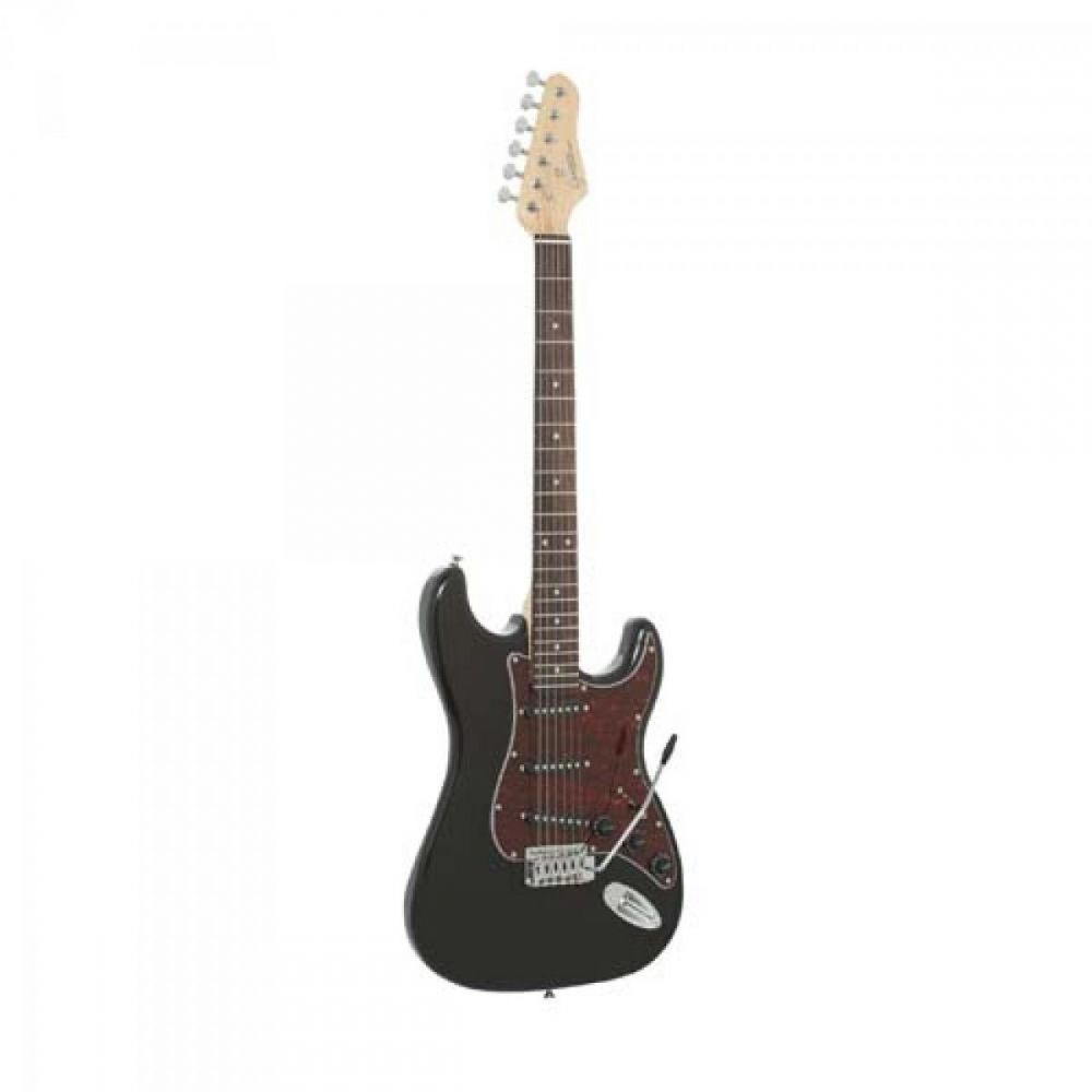 Guitarra Strato G-100 Preta com Escudo Tortoise GIANNINI