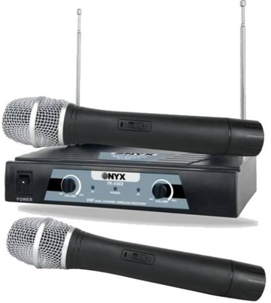 Microfone s/fio Duplo Vhf TK V202 - Onix