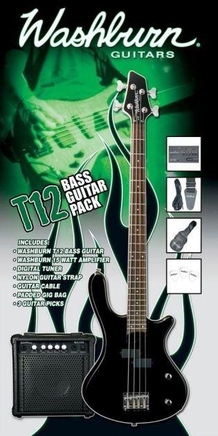Pack Contra Baixo Eletrico T12 Preto 220V T12B PAK - WASHBURN
